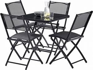 Table Pliante Avec Chaise : table terasse 4 personnes avec chaises pliantes aciro ~ Teatrodelosmanantiales.com Idées de Décoration
