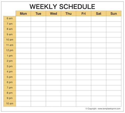 weekly planner schedule maker printable weekly