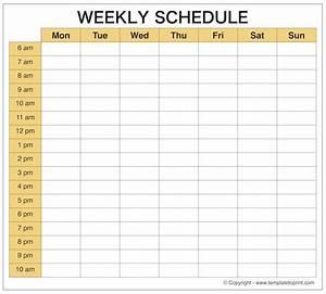 Get Free Weekly Planner Schedule Maker