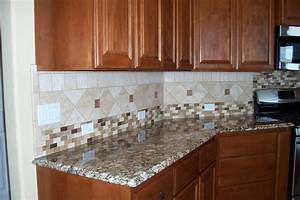 kitchen backsplash ideas white cabinets brown countertop With countertops and backsplashes for kitchens