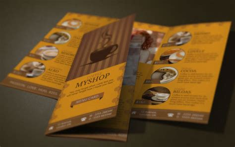 awesome coffee shop brochure templates  coffee