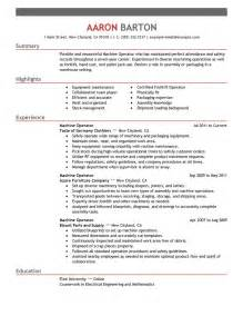 production operator description resume production machine operator resume for description