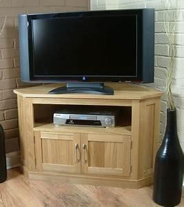 Solid OAK Corner TV DVD Unit Stand Cabinet Furniture EBay