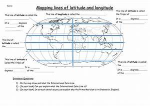 Lines Of Latitude And Longitude Worksheets