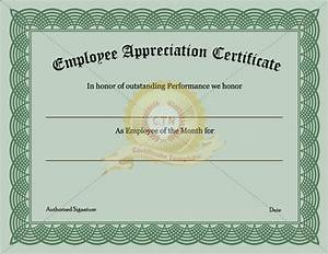 6 appreciation certificate templates certificate templates With employee recognition awards templates