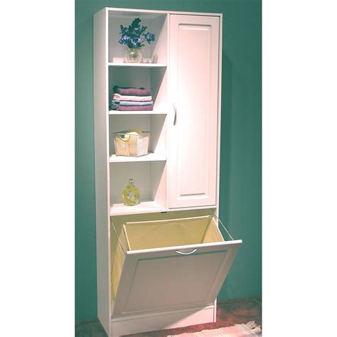 White Wooden Tall Shelves With Four Racks And Single