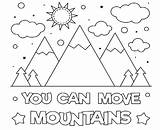 Mountains Coloring Move Printable sketch template