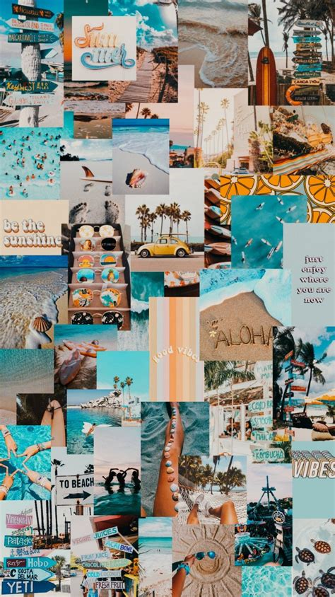 summer collage aesthetic wallpaper aesthetic wallpapers
