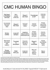cmc human bingo bingo cards to download print and customize With human bingo template