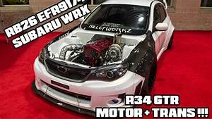 R34 GTR MOTOR IN A SUBARU WRX YouTube