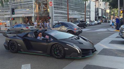 Lamborghini Veneno Roadster Rodeo Drive Hollywood Beverly
