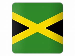 Square icon. Illustration of flag of Jamaica