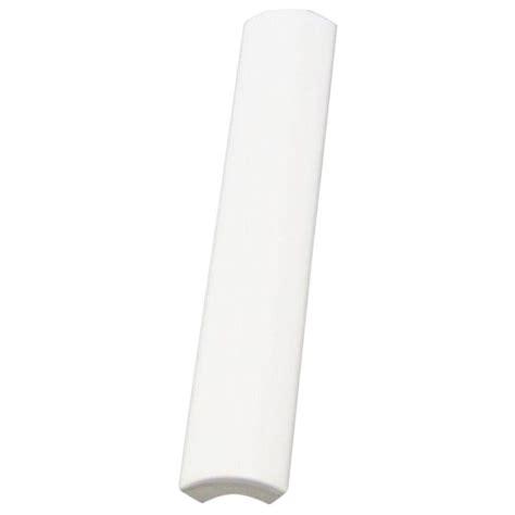daltile semi gloss white 3 4 in x 6 in ceramic quarter trim wall tile 0100a1061p1 the