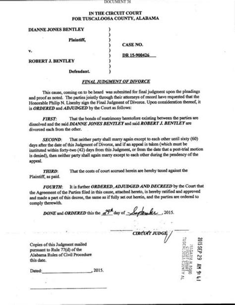 Bentley divorce decree | | decaturdaily.com