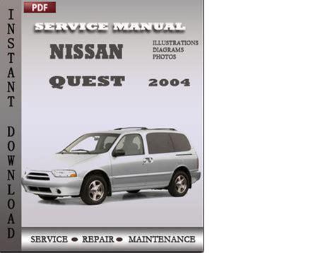 service repair manual free download 2004 nissan quest seat position control nissan quest 2004 service repair manual download download manuals
