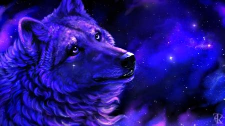 Blue And Purple Wolf Wallpaper by Enchanted Abstract Background Wallpapers On