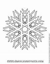 Coloring Snow Printable Flake sketch template