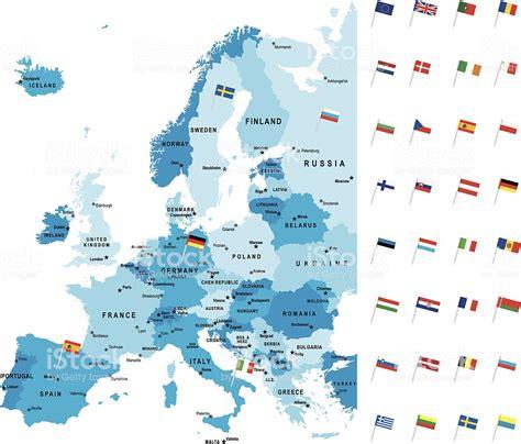 Carte Europe Capitales by Carte D 233 Taill 233 E De Leurope De La Capitale Du Pays Drapeau