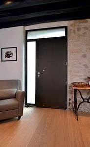 gris quartz f739 avec croisillons colles facade With porte d entrée alu avec aide financiere pour renovation salle de bain