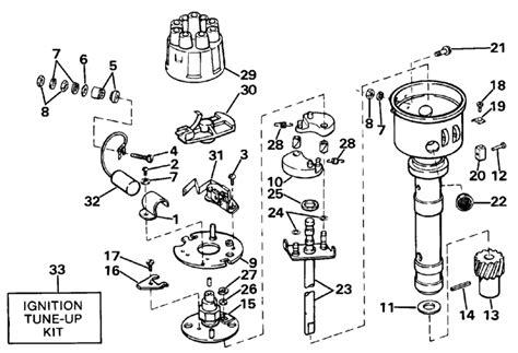 omc stern drive distributor mallory ylav parts