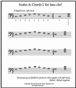 Piano Scales Sheet Music for Both Hands for Beginners