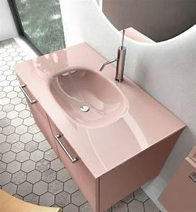 Meuble pour petite salle de bain une selection originale for Salle de bain design avec vasque rose