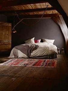 davausnet chambre a coucher rustique avec des idees With tapis de yoga avec canapé campagnard chêne