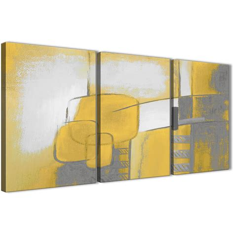 3 mustard yellow grey painting kitchen canvas pictures decor abstract 3419 126cm set