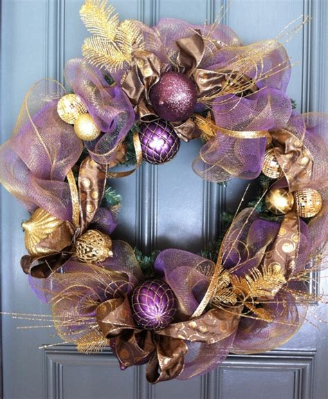 amazingly gorgeous purple christmas decorations  add