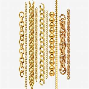 Vector Gold Chain  Vector Diagram  Chain  Gold Chain Png
