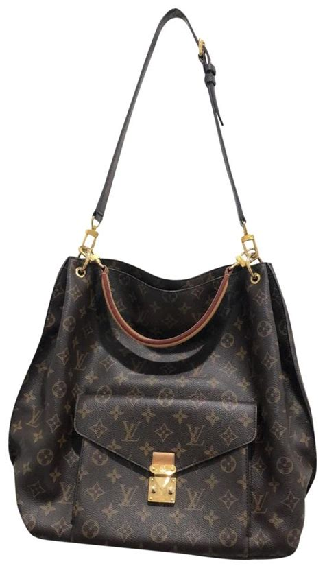 louis vuitton metis monogram canvas brown leather hobo bag