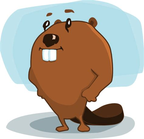 beaver cartoon clip art  clkercom vector clip art