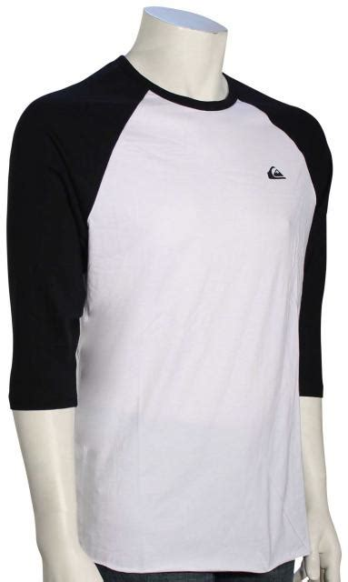 Tshirt Quiksilver Logo White quiksilver mountain wave raglan t shirt white for sale
