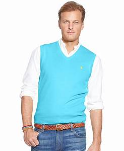 Polo V : polo ralph lauren big and tall pima cotton v neck sweater vest in blue for men lyst ~ Gottalentnigeria.com Avis de Voitures