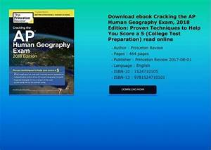 Download Ebook Cracking The Ap Human Geography Exam  2018
