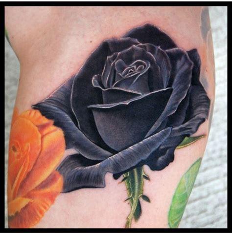 Tatouage Rose Noire Tatouage Rose Noire Jambe Tatouage Femme