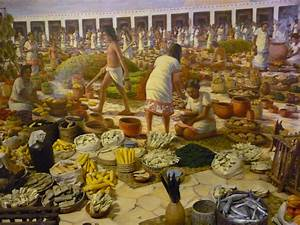 Part of the diorama of the Aztec marketplace. Description ...