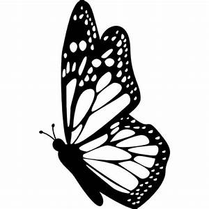 Butterfly side view with detailed wings Icons | Free Download
