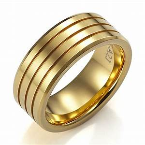 Mens wedding gold rings wedding promise diamond for Wedding gold rings for men
