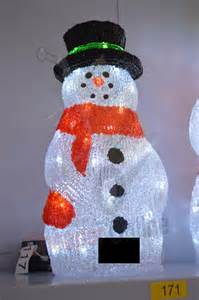 60cm indoor outdoor acrylic snowman christmas decoration with 120 cool white leds cheaper