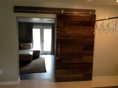 sliding barn door contemporary reclaimed grey hemlock 2