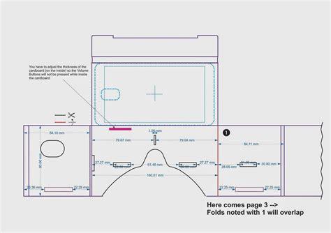 vr cardboard template cardboard pattern search vr headset