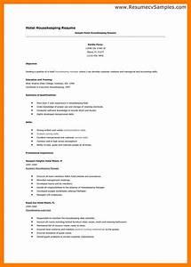 hospital housekeeping resume good resume format With hospital housekeeping resume