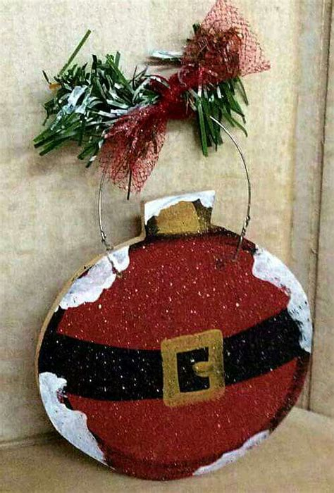 christmas craft santa ornament wood craft craft wood shack
