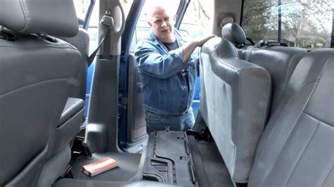 dodge ram crew cab rear seat stuck    fix  youtube