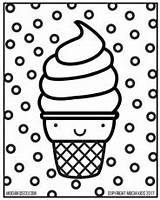 Coloring Ice Cream Sheet Kawaii Mochi Pusheen Doodle Digital Doodling Adult Related Coloringhome Comments sketch template