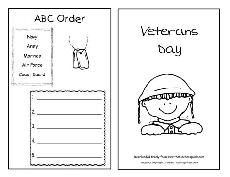 veterans day printouts from the s guide