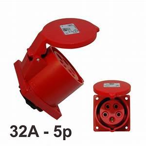 Cee Steckdose 32a : cee drehstrom einbau steckdose 32a 5 ip44 pce 325 6 ~ Watch28wear.com Haus und Dekorationen