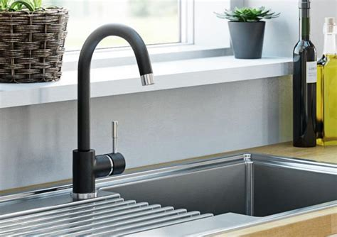 black kitchen sink taps kitchen taps pillar mixer taps diy at b q 4715