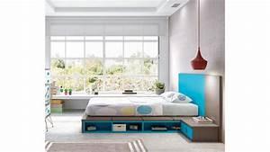 Lit japonais futon fun colore ultra design glicerio for Tapis chambre ado avec housse de futon japonais